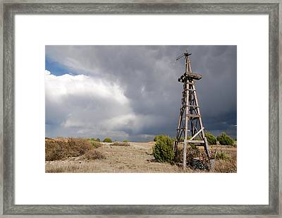 Incoming Storm On The High Plains Horizontal Framed Print