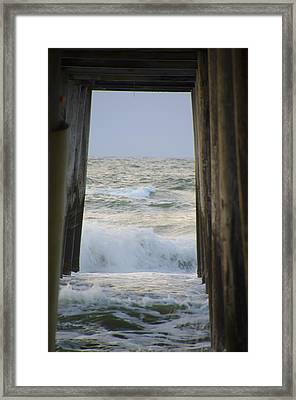 Incoming Tide At 32nd Street Pier Avalon New Jersey Framed Print