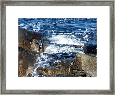 Incoming Tide Framed Print by Catherine Gagne