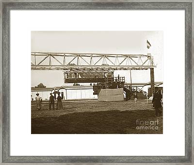 Framed Print featuring the photograph Incredible Hanging Railway  1900 by California Views Mr Pat Hathaway Archives