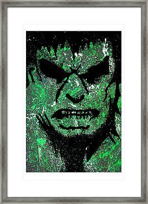 Incredible Hulk Framed Print by Tony Herrera