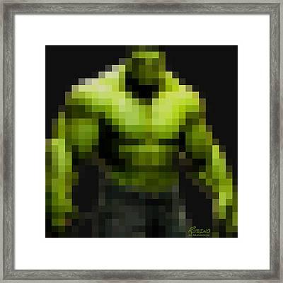 Incredible Hulk Framed Print by Tony Rubino