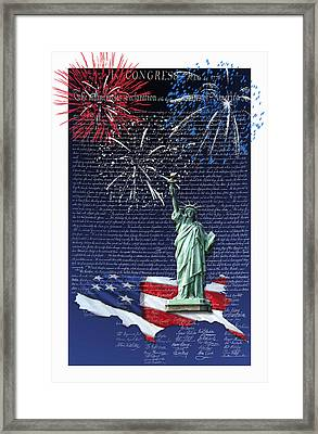 Framed Print featuring the digital art Independence Day by Kathleen Holley