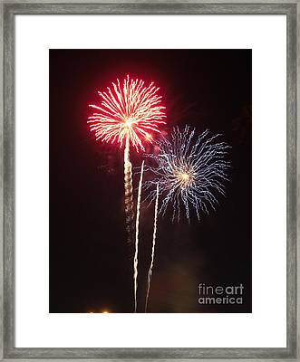 Independence Day Sparklers Framed Print by Deborah Smolinske
