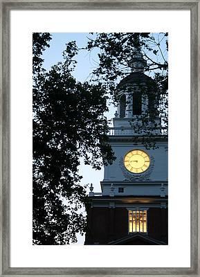 Independence Hall At Dusk Framed Print by Christopher Woods