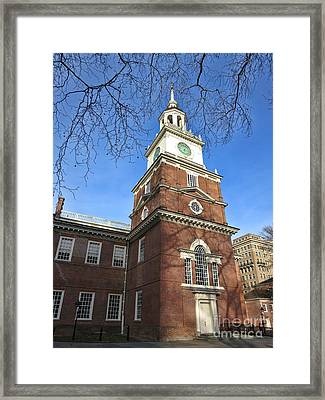 Independence Hall Bell Tower Framed Print by Olivier Le Queinec