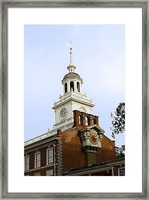 Independence Hall Clocks Framed Print