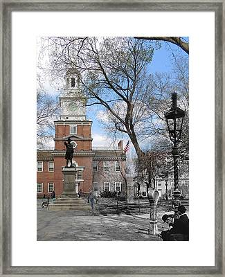 Independence Hall Courtyard Framed Print
