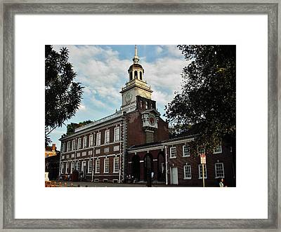 Independence Hall Framed Print by Ed Sweeney