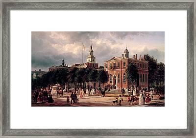 Independence Hall In Philadelphia Framed Print