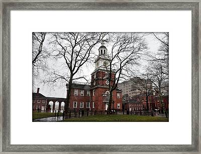 Independence Hall In The Morning Framed Print by Bill Cannon