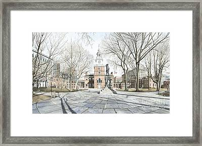 Independence Hall Framed Print by Keith Mountford