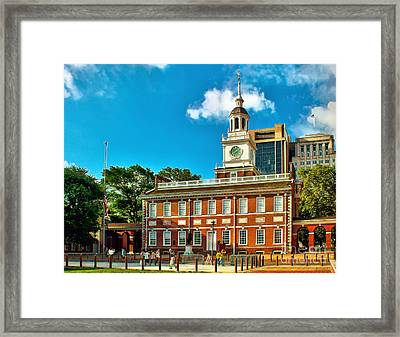 Independence Hall Framed Print by Nick Zelinsky