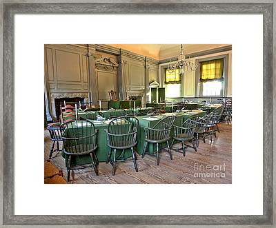 Independence Hall Framed Print by Olivier Le Queinec