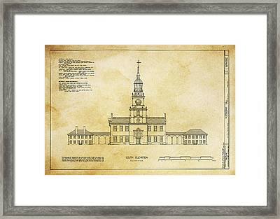 Independence Hall - Philadelphia Framed Print by Daniel Hagerman