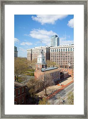 Independence Hall Philadelphia Framed Print by Kay Pickens