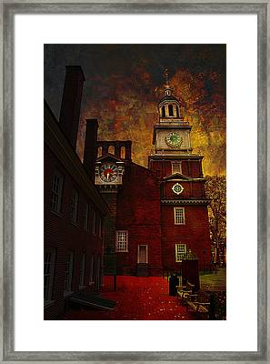 Independence Hall Philadelphia Let Freedom Ring Framed Print by Jeff Burgess