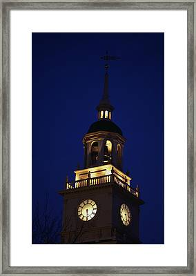 Independence Hall Tower Philadelphia Pa Framed Print by Panoramic Images
