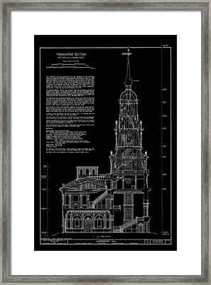 Independence Hall Transverse Section - Philadelphia Framed Print by Daniel Hagerman