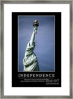 Independence Inspirational Quote Framed Print