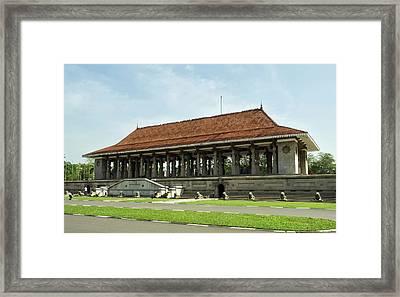 Independence Memorial Hall, Cinnamon Framed Print