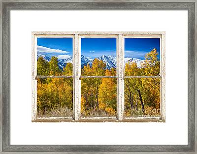 Independence Pass Autumn White Peeling Window View Framed Print by James BO  Insogna