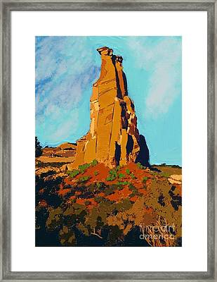 Independence Rock Framed Print by Craig Nelson