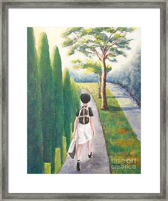 Framed Print featuring the painting Independent by Jane  See