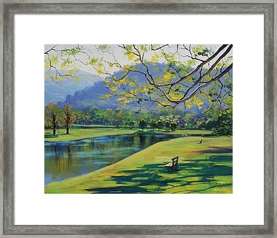 Inder The Shade Framed Print