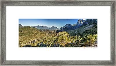 Index Mountains Panorama Framed Print
