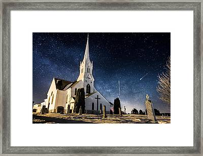 Indherred Church Framed Print by Aaron J Groen