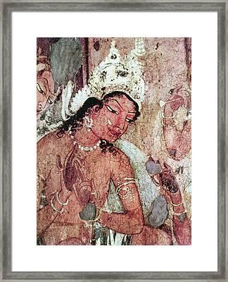 India Ajanta Cave Framed Print