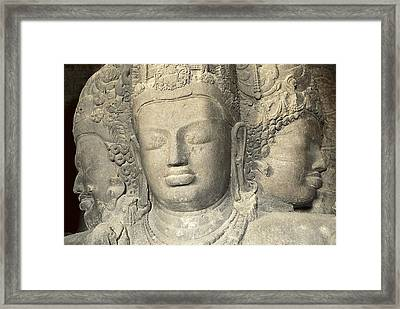India. Bombay. Elefanta. Elephanta Framed Print by Everett