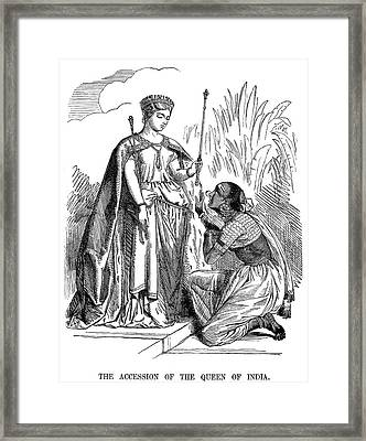 India British Rule, 1858 Framed Print by Granger