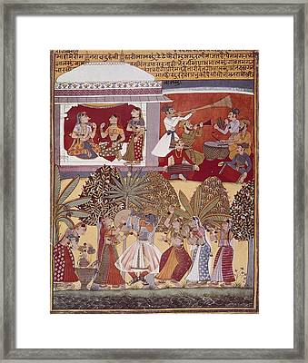 India. Calcutta. Krishnas Dance Framed Print by Everett