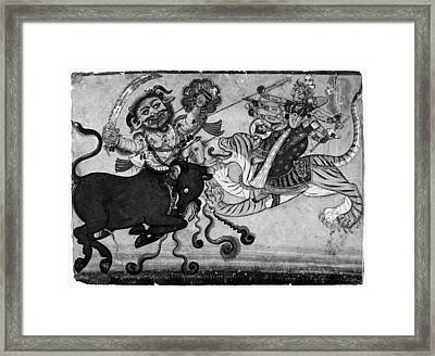 India Durga, C1700 Framed Print