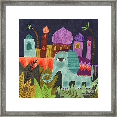 India Elephant Framed Print by Kate Cosgrove