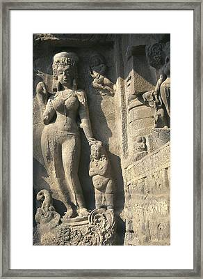 India. Ellora. Ellora Caves. Ellora Framed Print by Everett