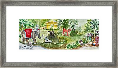 India Friends Framed Print