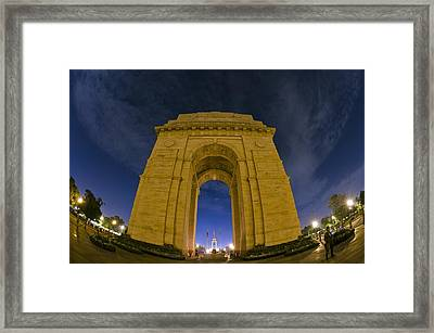 India Gate Framed Print by Aaron Bedell