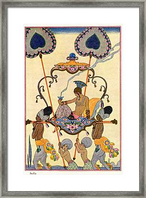 India Framed Print by Georges Barbier