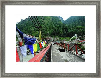 India, Himachal Pradesh, Manikaran Framed Print by Anthony Asael
