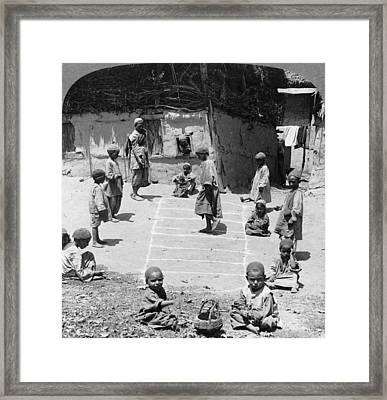 India Hopscotch, C1903 Framed Print by Granger