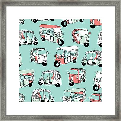 India Icon Of The Road Rockshaw Framed Print by Maaike Boot