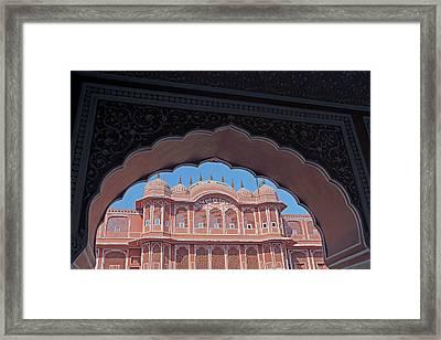 India, Jaipur Chandra Mahal At Jaipur Framed Print