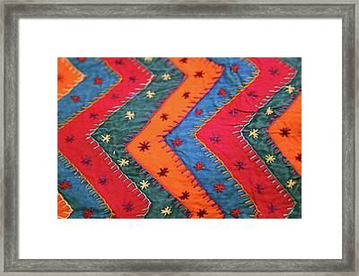 India Jaipur Traditional Indian Textile Framed Print by Kymri Wilt