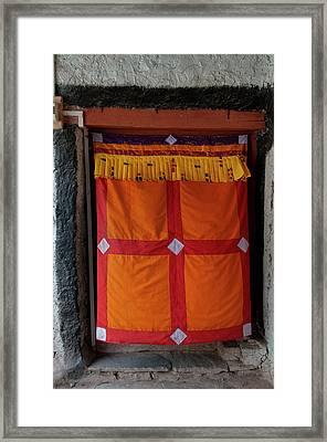 India, Jammu & Kashmir, Ladakh, Doorway Framed Print