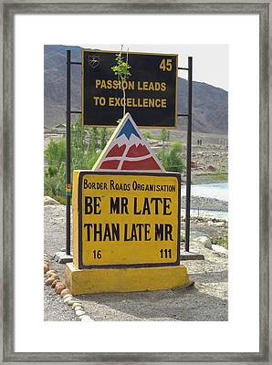 India, Jammu & Kashmir, Ladakh Highway Framed Print