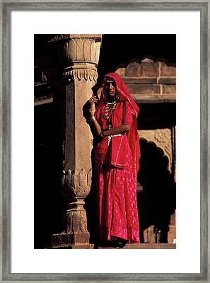 India, Jodpur, Rajasthan, Gardens Framed Print by Claudia Adams