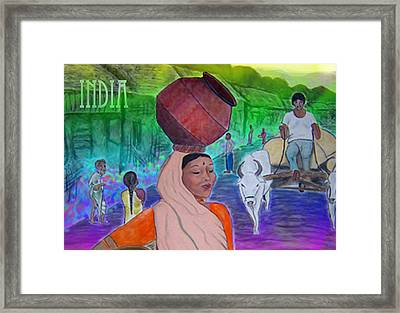 India Framed Print by Karen R Scoville